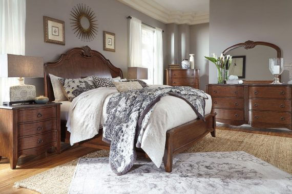 Sleigh Bed Set