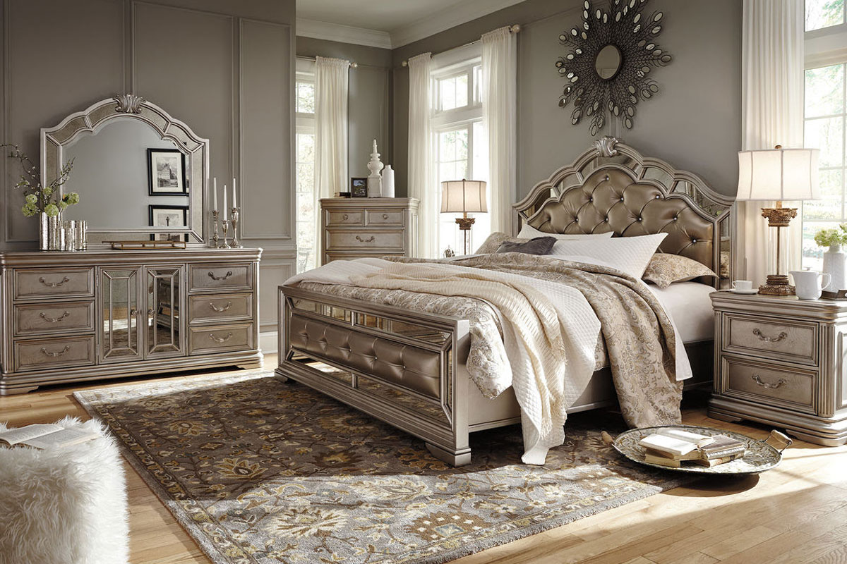 Birlanny Silver Queen Bedroom Set