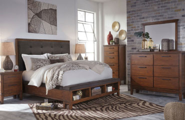 bedroom furniture stores in tucson: 6 Piece Queen Bedroom Set Complete With A Dresser, Mirror, Chest, Nightstand and Bed