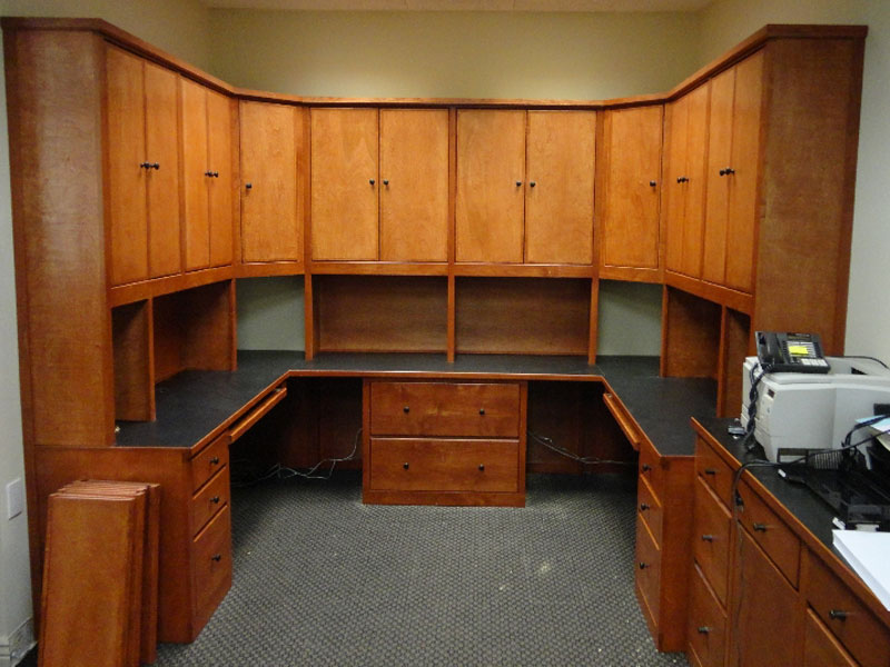 We create office built-ins and other custom furnitures to keep organized and productive