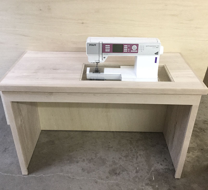 custom sewing table, sewing machines table and cabinet custom furniture