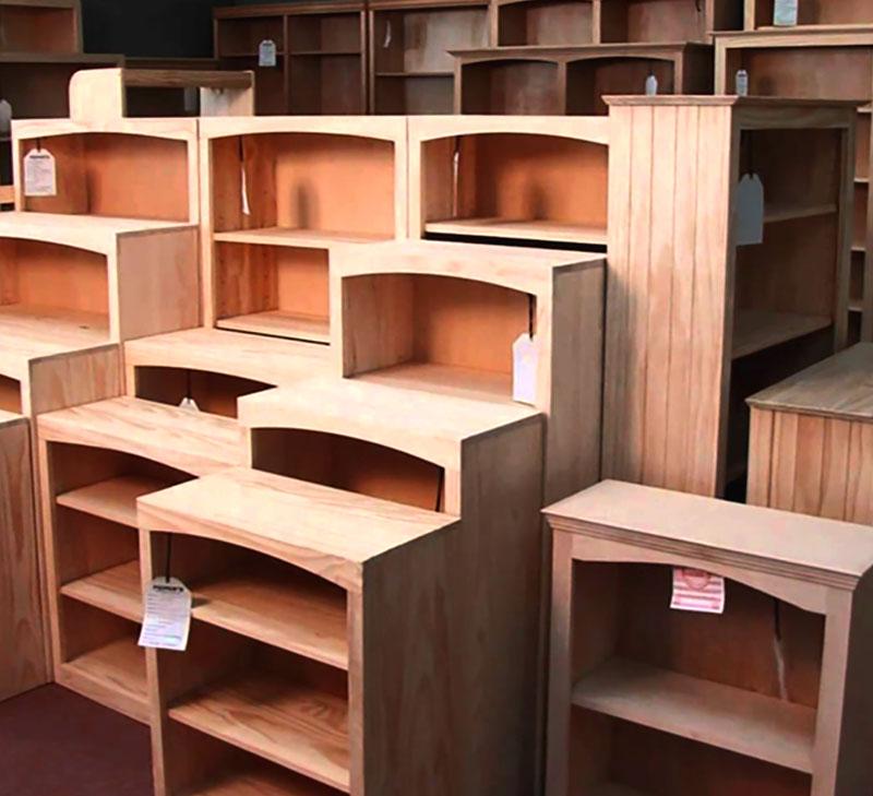 Unpainted bookshelves unfinished furniture tucson arizona