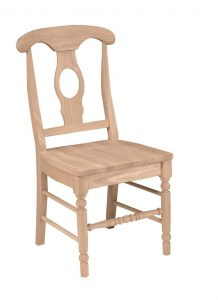 stylish wooden chair unpainted in the raw furniture tucson az