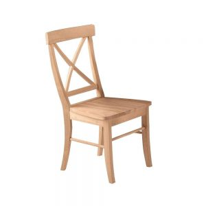 unfinished x back wood chair on the raw furniture