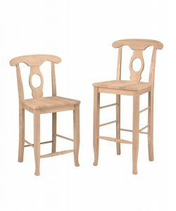 Unpainted wood chairs in the raw